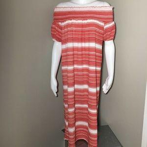 Zara Women's Medium Midi Dress Off The Shoulder